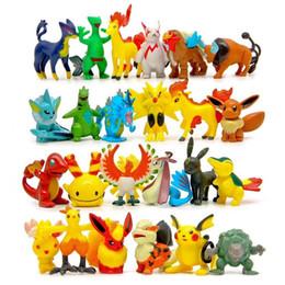 2019 new Cartoon Action Figures Multicolor about 6CM 2inch mini children DIY toys Pikachu Model Decoration DHL shipping C1120