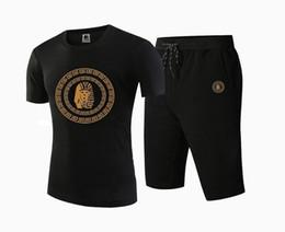 free shipping s-5xl Fashion T shirt Men Casual Hip hop pants+tops Summer Tee clothing sport Tracksuits
