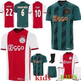 Men + kids ajax 2019 20 soccer jersey ZIYECH TADIC DE JONG DOLBERG HUNTELAAR DE LIGT Football jerseys camisa de futebol