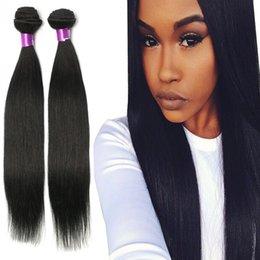 4Bundles Brazilian Virigin Hair Straight 7A Human Hair Extensions Peruvian Brazilian Human Straight Weaves Brazilian Virgin Hair