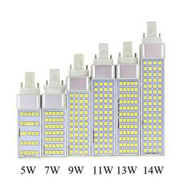 G23 G24 E27 5W 7W 9W 11W 13W 14W 85V-265V AC Horizontal Plug lamp SMD5050 Bombillas LED Corn Bulb Spot light CE RoHS