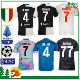 19 20 Juventus Ronaldo DYBALA PJANIC DE LIGT soccer jersey 2019 2020 Italy BUFFON Adult man and kids kit JUVE sports football shirt