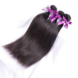 7A Brazilian Virgin Hair straight 100% Unprocessed Remy human hair extensions Brazilian straight bundles cheap weaving wholesale hair weaves