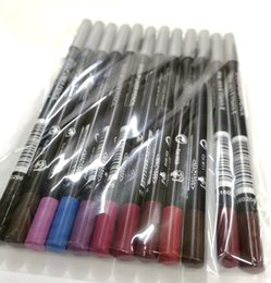 Makeup Eye Pencil Lip Liner Pencil WaterProof Aloe Vera and Vitamin E 12 Different Colors 50Pcs