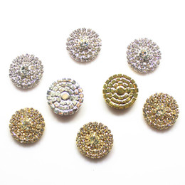 Wholesale 100pcs 23mm 3 Rows Round Crystal Rhinestone Button Flatback Wedding Embellishments Rhinestone Cluster Factory Price