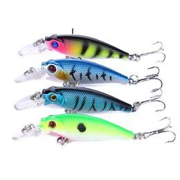 HENGJIA 65mm Minnow Fishing Lure Crankbaits Bait 6.5cm 5G 8# hooks Hard bait Stick bait fishing lure 20pcs carp fishing