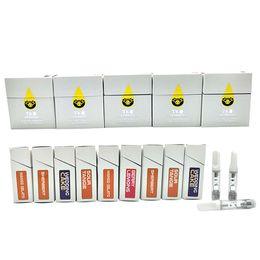 TKO Cartridge 1.0ml Empty Glass Oil vape cartridges Packaging Ceramic vapes TKO Carts vaporizer e cigarette DHL Free