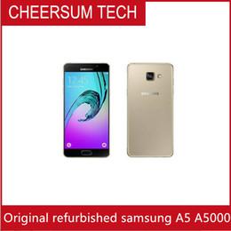 "Original Unlocked Samsung Galaxy A5 A5000 A500F LTE Cell phones 5.0"" Quad core 13MP 2GB RAM 16GB ROM Refurbished"