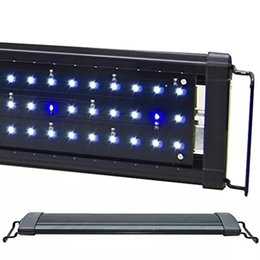 "3 Models 12"" 18"" 24"" Long Aquarium LED Light Fixture Freshwater Marine Tropical Fish Tank LED Lamp Lighting AC110-240V"