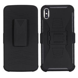 For iPhone XS MAX XR X 7 8 6S Plus Future Armor Impact Hybrid Hard Case Cover Belt Clip Kickstand Stand Combo