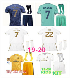 kids kits Real Madrid soccer jersey 2019 HAZARD MORATA MARCELO SERGIO KROOS BENZEMA ISCO KIDS 19 20 set children's goalkeeper jersey