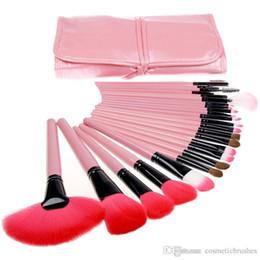 Mybasy Pink 24pcs Makeup Brush set Professional Cosmetic Tools Foundation Eyeshadow Eyeliner Powder Makeup Brushes + Bag maquiagem