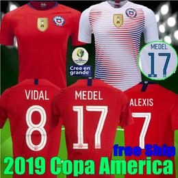 free Ship 2019 Copa America Chile ALEXIS Soccer Jerseys Home Away 19 20 VIDAL VALDIVIA MEDEL PINILLA VARGAS Football Chile Jersey Shirt