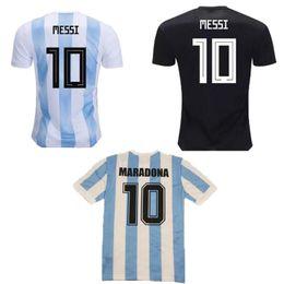 New 2019 Argentina 86 retro MARADONA 2018 World Cup MESSI home white blue away mens soccer jersey Aguero Di Maria Dybala football shirt 2020