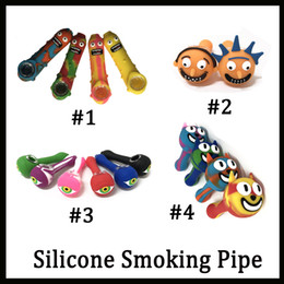Cucumber Rick Morty Cat face eye-shape Silicone Smoking Pipe hookad Tobacco Hand Spoon Pipes Vs Twisty Glass Blunt DHL Shipping Free