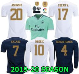 HAZARD 19 20 Real Madrid home soccer jersey ASCENSIO 2019 2020 RONALDO BENZEMA BALE KROOS RAMOS MODRIC ISCO NAVAS MARCELO football shirt