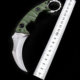 Strider Self Defense Karambit Machete D2 Blade Claw Knife 57HRC G10 Handle Camping Survival Tactial Pocket Knives EDC Gear