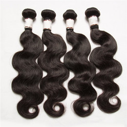 Wholesale 5pcs lot brazilian peruvian malaysian indian virgin hair body wave cheap human hair extensions hair weaves Double wefts