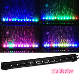AC220-240V Multicolor Aquarium Underwater Air Stone Bubble LED Light Fish Tank Submersible Air Curtain LED Lamp Lighting Strip