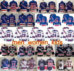 New York Rangers Jerseys Hockey Artemi Panarin Mika Zibanejad Kaapo Kakko Henrik Lundqvist Messier Chris Kreider Gretzky Brady Skjei Hayes