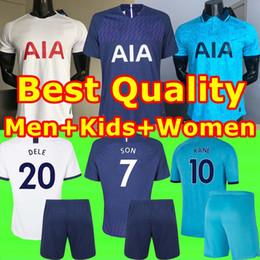 19 20 Tottenham Jerseys KANE Home away Kids Spurs Soccer Jersey 2019 2020 Spurs LAMELA ERIKSEN DELE SON Away third Men women Football shirt