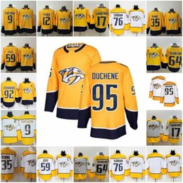 95 Matt Duchene Nashville Predators 64 Mikael Granlund 9 Filip Forsberg 12 Mike Fisher 35 Pekka Rinne 59 Roman Josi 92 Ryan Johansen Jersey