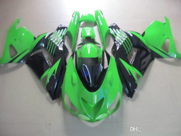 Green Black Fairing body kit for KAWASAKI Ninja ZX14R 06 07 ZX-14R ZX 14R 2006 2007 Injection mold Fairings set