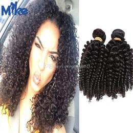 MikeHAIR Mongolian Kinky Curly Hair Bundles 2Pcs Lot Cambodian Indian Brazilian Hair Extension 100% Human Hair Weaves for Black Women