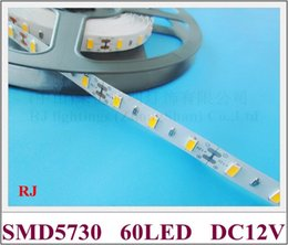 non-waterproof IP20 SMD 5730 LED strip light flexible strip soft strip DC12V SMD5730 60led M 10M roll CE ROHS 100M lot