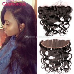 Glamorous Ear to Ear Lace Frontal Closure Original Human Hair 8-24Inch Body Wave Peruvian Indian Malaysian Brazilian Hair 13x4 Lace Frontals