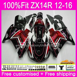 Injection For KAWASAKI NINJA ZX 14R ZZR 1400 ZX14R 12 13 14 15 16 73HM.0 ZZR1400 ZX-14R 2012 2013 2014 2015 2016 OEM Fairing Stock red black