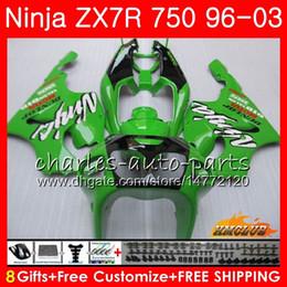Bodys For KAWASAKI factory green NINJA ZX 7 R ZX 750 ZX750 ZX 7R ZX-750 28HC.11 ZX-7R ZX7R 1996 1997 1998 1999 2000 2001 2002 2003 Fairing