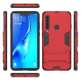For Samsung Galaxy J2 CORE J2 PRO A6 2018 A6 PLUS 2018 J7 DUO Hybrid KickStand Anti Shock Defender Armor Case TPU+PC cover 50PCS LOT