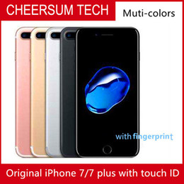 hotsale Original Unlocked Apple iPhone 7 iphone 7 plus 4G LTE Quad core 4.7'' 12MP 2G RAM 32G 128G 256G with Fingerprint refurbished Phone