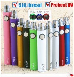 Preheat EVOD VV Twist 510 Thread Vape Battery USB Charger Kit 650 900 1100 mAh Variable Voltage Vision 2 Vaporizer for 510 Thread Atomizer