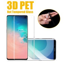 Full Coverage 3D Curved Soft Screen Protector PET For Samsung Galaxy Note 10 10+ 9 8 S10 E 5G S9 Plus S8 S7 Edge( Not Tempered Glass )