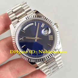 7 Style CAL.3255 Luxury Mens Watch 40mm Day-Date II 218206 218235 218239 Blue Roman President Automatic Men's Watches