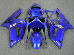 blue Fairing kit for 2003 2004 KAWASAKI Ninja ZX-6R 03-04 ZX6R 636 ZX 6R 03 04 Injection mold Fairings