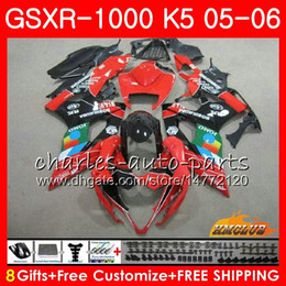 Bodywork For SUZUKI GSXR-1000 stock JOMO Red K5 GSXR1000 05 06 Body kit 11HC.105 GSX R1000 GSXR 1000 2005 2006 GSX-R1000 05 06 Fairing +Cowl