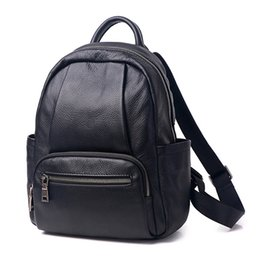brand new real leather women backpack famous Designer genuine leather shoulder bag lady 0508