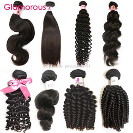 Glamorous Brazilian Human Hair Weaves 1Pc Straight Body Wave Deep Wave Curly Natural Wave Human Hair Extension for africa women