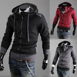 Fashion Korean Casual Men's Hoodie Hooded Cardigan Designer Slim Fit For Men Hoodies & Sweatshirts Free Shipping