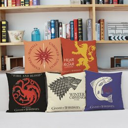 Game of Thrones Ice and Fire Cushion Cover American Style Pillow Case Linen Cotton Home Sofa Bedroom Decoration
