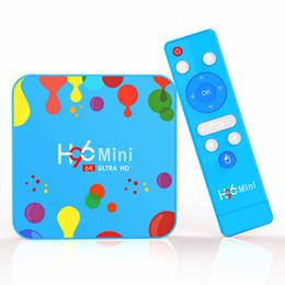 4GB 128GB H96 mini Android 9.0 Smart TV Box Allwinner H6 Quad Core 4GB 64GB Support 6K H.265 Set top Box