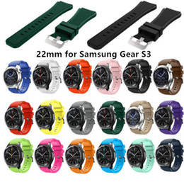 22mm watch band strap For Samsung Galaxy S3 Frontier Classic straps Replacemet Silicone Wristband 46mm for Samsung Gear sport S3 Watch bands