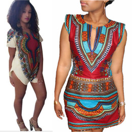 New 2019 Women Summer Dress Traditional African Print Dashiki Party Dresses Short Sleeve T shirt Dress Plus Size Tops Ropa Mujer Clothing