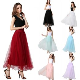 Fairy Women Summer Tulle Tutu Skirt For Birthday Party Prom Wears A Line High Waist Short Party Skirts CPA977