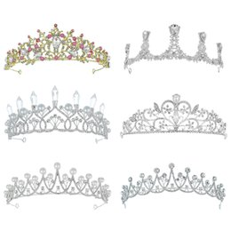2019 Hot Selling Women Gold Silver Bridal Crwns Headpieces Rhinestones Crystals Pricess Wedding Crowns Hair Accessories Birthday CPA3164