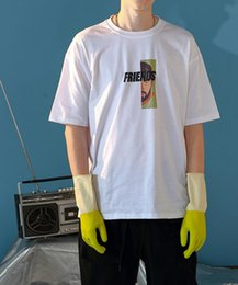Tide brand men's short-sleeved men's 2019 summer new round neck print oversize loose half-sleeve t-shirt tops
