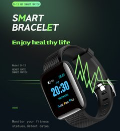 D13 116Plus Smart Bracelet Fitness Tracker Heart Rate Blood Pressure Monitor Sports Smart Band V4.0 IP67 Waterproof For Android IOS Phone